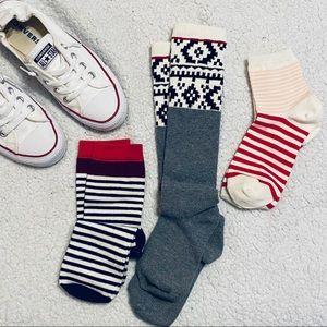 NWOT Striped Sock Bundle Women's